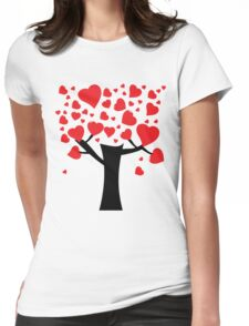 Tree of heart Womens Fitted T-Shirt