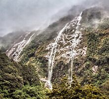 Waterfalls And Ice by Sandra Anderson