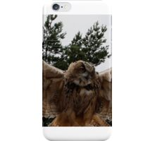 EAGLE OWL SPEADING WINGS iPhone Case/Skin