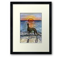 THE SUNSET TO WHEREVER YOU WISH Framed Print