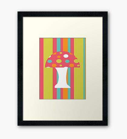 coloured Mushroom Framed Print