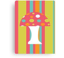 coloured Mushroom Canvas Print