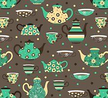 Tea pattern. by JuliaBadeeva