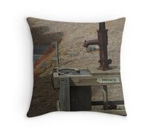 old water pump and bucket Throw Pillow