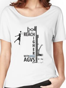 Reach Higher with NDC AGVs BW Women's Relaxed Fit T-Shirt