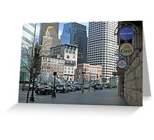Atlantic Ave. and Summer Streets at South Station, April in Boston Series 2009 Greeting Card