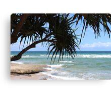 A Summer Beach Paradise Canvas Print