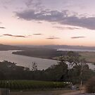 Sunset Over The River Tamar by Arkani