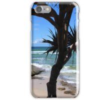 Splashing Waves at a Beach Paradise iPhone Case/Skin