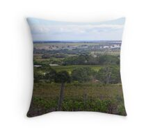 from grapevines to the ocean  Throw Pillow