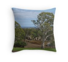 a little bit of greenery amongst the gum trees  Throw Pillow