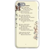 The Old Garden and Other Verses by Margaret Deland and Wade Campbell, Illustrated by Walter Crane 1894 97 - Nepatica iPhone Case/Skin