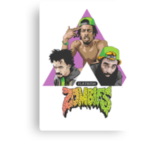 flat bush zombies triangle Canvas Print