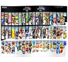 Super Smash Bros. For Nintendo 3DS/ Wii U Poster Poster