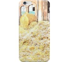 Farm stable and hay iPhone Case/Skin