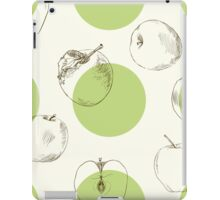 seamless pattern made of scattered decorative apples iPad Case/Skin