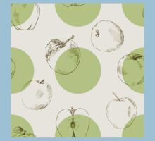 seamless pattern made of scattered decorative apples Baby Tee