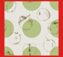 seamless pattern made of scattered decorative apples One Piece - Long Sleeve