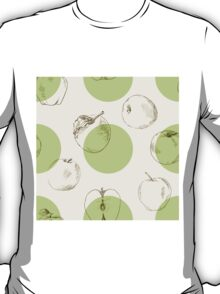 seamless pattern made of scattered decorative apples T-Shirt