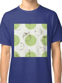 seamless pattern made of scattered decorative apples Classic T-Shirt