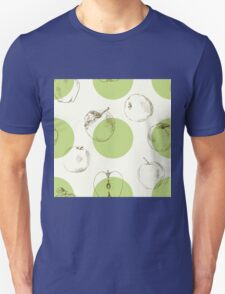 seamless pattern made of scattered decorative apples Unisex T-Shirt