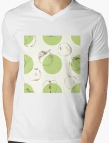 seamless pattern made of scattered decorative apples Mens V-Neck T-Shirt
