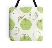 seamless pattern made of scattered decorative apples Tote Bag