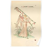 A flower wedding - Described by Two Wallflowers by Walter Crane 1905 55 - A Jacob's Ladder Poster