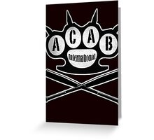 A.C.A.B Hooligans-Ultras Greeting Card