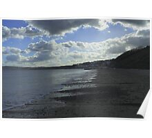 CLOUDY DAY AT FILEY Poster