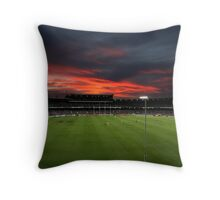 Subiaco Oval at Sunset Throw Pillow