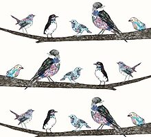 Birds On A Branch.  by ElenaONeill
