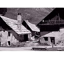 traditional French mountain chalets Photographic Print