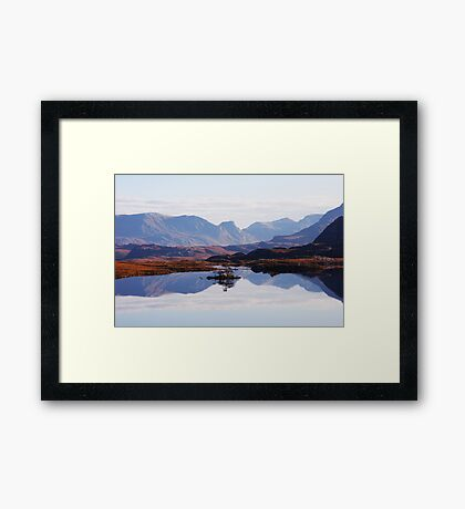 Mirror Mountains Framed Print