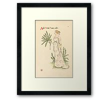 A flower wedding - Described by Two Wallflowers by Walter Crane 1905 34 - And Rose Mary Framed Print
