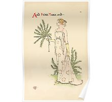 A flower wedding - Described by Two Wallflowers by Walter Crane 1905 34 - And Rose Mary Poster