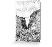 Broken Landscape Greeting Card