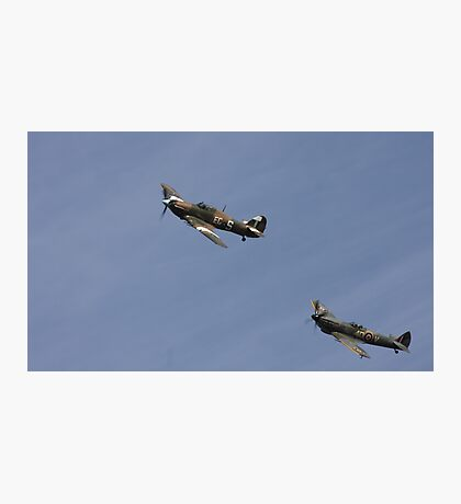 Coningsby, Lincolnshire. Spitfire and Hurricane. Photographic Print