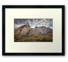 Dinas Rock mountaineering Pontneddfechan Framed Print