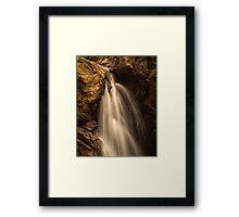 Dinas Rock waterfalls Framed Print