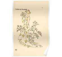A flower wedding - Described by Two Wallflowers by Walter Crane 1905 35 - Rose La France Poster