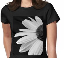 Half daisy in black and white Womens Fitted T-Shirt