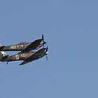 Spitfire and Hurricane. Coningsby, Lincolnshire. by Merlin72