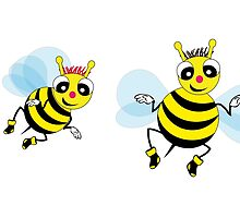 Two cute  little bees  by carreras