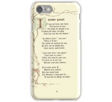 The Old Garden and Other Verses by Margaret Deland and Wade Campbell, Illustrated by Walter Crane 1894 148 - Arriere Pensee iPhone Case/Skin