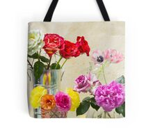 Symphony Of Rainbow Flowers Tote Bag