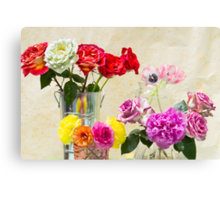 Symphony Of Rainbow Flowers Canvas Print