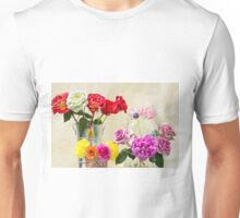 Symphony Of Rainbow Flowers Unisex T-Shirt
