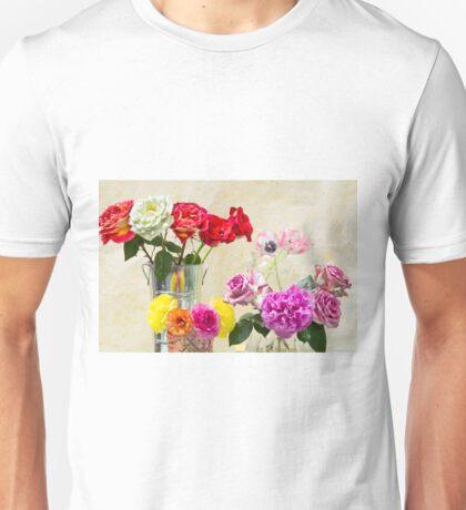 Symphony Of Rainbow Flowers Unisex T-Shirt
