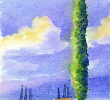 Cypress Tree by Carl Conway